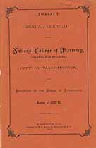 Thumbnail image of National College of Pharmacy 1883-'84 Circular cover
