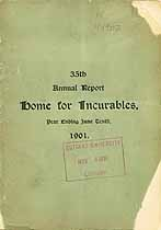 Thumbnail image of New York City Home for Incurables 1901 Report cover