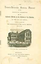 Thumbnail image of Boston Children's Mission 1886 Annual Report cover