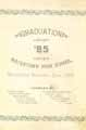 Thumbnail image of Watertown High School 1885 Graduation cover