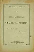 Thumbnail image of Haverhill Children's Aid Society 1875 Report cover