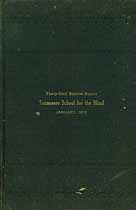 Thumbnail image of Tennessee School for the Blind 1915 Report cover