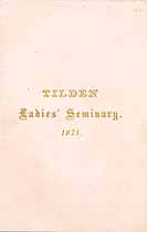 Thumbnail image of Tilden Ladies' Seminary 1871 Catalogue cover