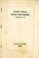 Thumbnail image of Oak Hill High School 1919 Catalogue cover