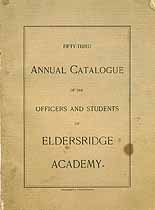 Thumbnail image of Eldersridge Academy 1900 Catalogue cover