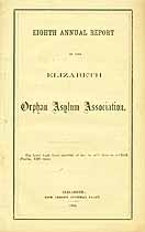 Thumbnail image of Elizabeth Orphan Asylum Association 1866 Report cover