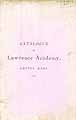 Thumbnail image of Lawrence Academy 1874 Catalogue cover