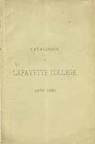 Thumbnail image of Lafayette College 1879-80 Catalogue cover