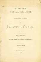 Thumbnail image of Lafayette College 1881-82 Catalogue cover