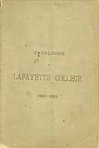 Thumbnail image of Lafayette College 1882-83 Catalogue cover