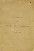 Thumbnail image of Lafayette College 1883-84 Catalogue cover