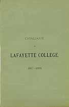 Thumbnail image of Lafayette College 1887-88 Catalogue cover