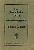 Thumbnail image of Carlsbad First Presbyterian Church 1916 Annual cover