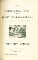 Thumbnail image of Central Pa. Odd Fellow's Orphans Home 1899 Report cover