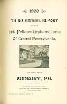 Thumbnail image of Central Pa. Odd Fellow's Orphans Home 1900 Report cover
