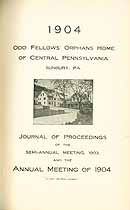 Thumbnail image of Central Pa. Odd Fellow's Orphans Home 1904 Report cover