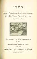Thumbnail image of Central Pa. Odd Fellow's Orphans Home 1905 Report cover