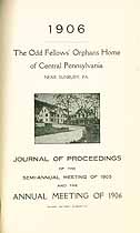 Thumbnail image of Central Pa. Odd Fellow's Orphans Home 1906 Report cover