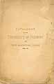 Thumbnail image of University of Vermont 1878-79 Catalogue cover