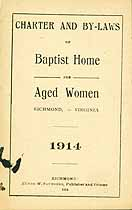 Thumbnail image of Richmond Baptist Home for Aged Women 1914 By-Laws cover