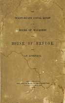 Thumbnail image of Philadelphia House of Refuge 1852 Report cover