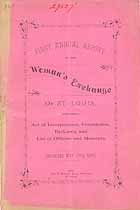 Thumbnail image of St. Louis Woman's Exchange 1884 Annual Report cover