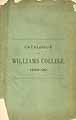 Thumbnail image of Williams College 1889-90 Catalogue cover