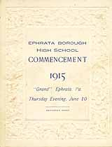 Thumbnail image of Ephrata Borough High 1915 Commencement cover