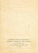 Thumbnail image of Ephrata Borough High 1912 Commencement cover
