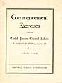 Thumbnail image of Roeliff Jansen Central School 1933 Commencement cover