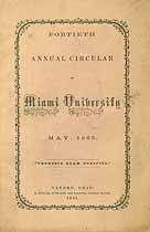Thumbnail image of Miami University 1865 Annual Circular cover