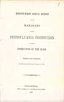 Thumbnail image of Pennsylvania Institution for the Blind 1854 Report cover