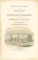 Thumbnail image of Pennsylvania Institution for the Blind 1858 Report cover