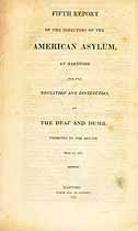 Thumbnail image of American Asylum at Hartford 1821 Report cover