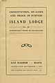 Thumbnail image of Island Lodge No. 120 I.O.O.F. 1920 Roster cover