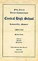 Thumbnail image of Kansas City Central High 1926 Commencement cover