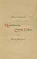 Thumbnail image of Mendelssohn Choral Union 1888-89 Program cover