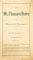 Thumbnail image of Mt. Pleasant Home for Destitute Children 1884 Report cover