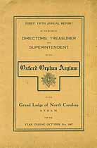 Thumbnail image of Oxford Orphan Asylum 1907 Report cover