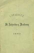 Thumbnail image of St. Johnsbury Academy 1889 Catalogue cover