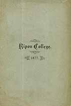 Thumbnail image of Ripon College 1876-77 Catalogue cover