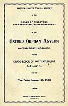 Thumbnail image of Oxford Orphan Asylum 1900 Report cover