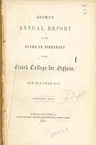 Thumbnail image of Girard College for Orphans 1855 Report cover