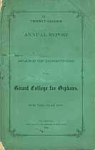 Thumbnail image of Girard College for Orphans 1869 Report cover