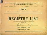 Thumbnail image of Codorus 3rd District 1926 Registry List cover