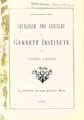 Thumbnail image of Gannett Institute 1888 Catalogue cover