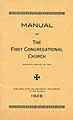 Thumbnail image of Willimantic First Congregational Church 1928 Manual cover