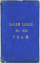 Thumbnail image of Salem Lodge, No. 330, F. & A. M. 1909 By-Laws cover