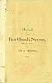 Thumbnail image of Newton First Church 1876 Manual cover