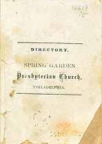 Thumbnail image of Spring Garden Presbyterian Church 1866 Directory cover